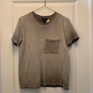Forever 21 Grey Short Sleeve Sweatshirt